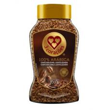 Café Solúvel Liofilizado Arábica 3 Corações 100g