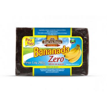 Bananada Zero Acucar Dacolonia 200g