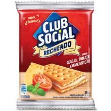 Biscoito Recheado Club Social Sabor Queijo, Tomate e Manjericão 106g