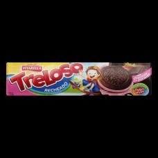 Biscoito Recheado Treloso Chocolate Com Morango 130g
