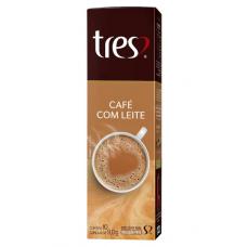 Cápsula 3 Corações Café com Leite com 10 Unid.