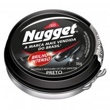 Cera para Calçados e Cintos Preta Nugget 36g
