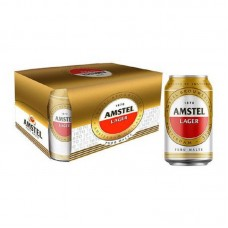 Cerveja Amstel Lager Puro Malte Lata 350ml 12und.