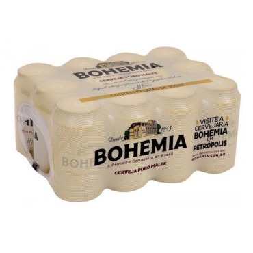 Cerveja Bohemia Puro Malte 350ml Pack 12 Latas