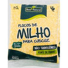 Flocos de Milho Para Cuscuz Bem Natural 500g