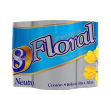 Papel Higiênico Floral Neutro 8 Rolos 30M