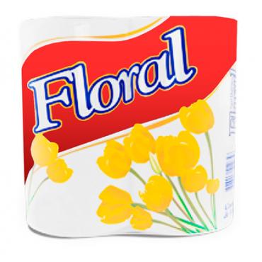Papel Higiênico Floral Perfumado 4 Rolos.