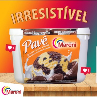 Sorvete Mareni Pavê 2L