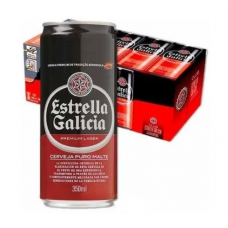 Cervejas Estrella Galicia Lata 350ml Pack 12 Latas