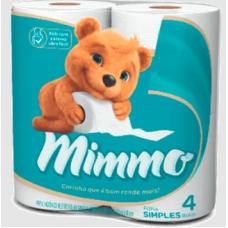 Papel Higienico Mimmo Folha Simples 4 Rolos de 30m.