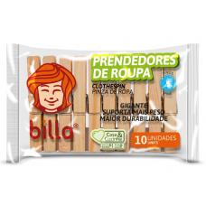 Prendedores De Madeira Billa 12und.