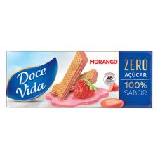 Bisc. Wafer Morango Doce Vida Zero Açúcar 115g