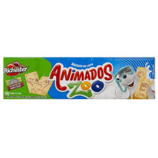 Biscoito de Leite Richester Animados Zoo 130g