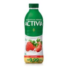 Iogurte Activia Próbioticos Naturais Morango 850g