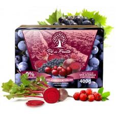 Polpa Pé de Fruta Uva, Acerola e Beterraba 400g