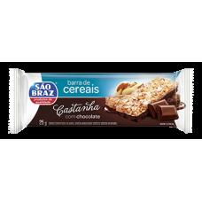 Barra de Cereais Castanha e Chocolate São Braz 25g