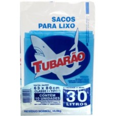 Saco Para Lixo Tubarão 30L