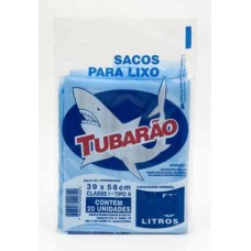 Saco Para Lixo Tubarão 50L