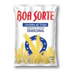 Farinha De Trigo Boa Sorte Sem Fermento 1Kg