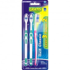 Escova Dental Oral B Classic 40 Macia 3und.