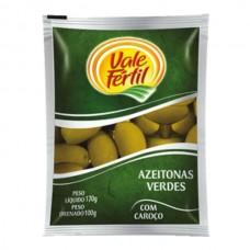 Azeitonas Verdes Com Caroço Vale Fértil 100g