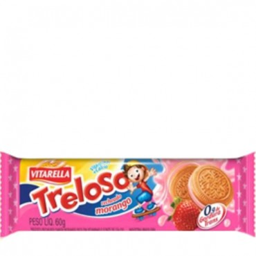 Biscoito Treloso Morango 60g