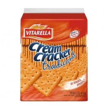 Biscoito Vitarella Cream Cracker Tradicional 400g