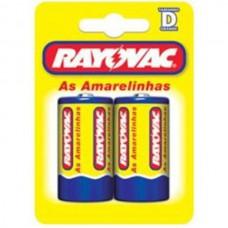 Pilhas Rayovac D Grande Amarelinha
