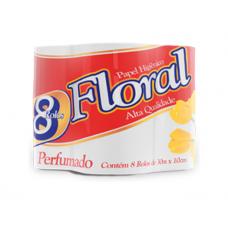 Papel Higiênico Floral Perfumado 8und 30m