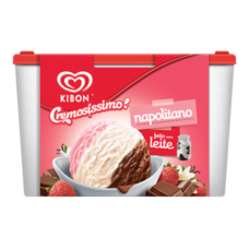 Sorvete Kibon Cremosissimo Napolitano 1,5L