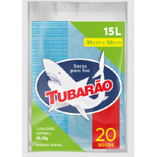 Saco Para Lixo Tubarão 15L